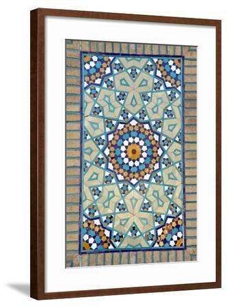 Tiled Mosque - Iran - Tomb of Hazrat Abdul Azim Hasani-saeedi-Framed Photographic Print