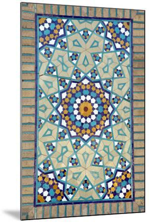 Tiled Mosque - Iran - Tomb of Hazrat Abdul Azim Hasani-saeedi-Mounted Photographic Print