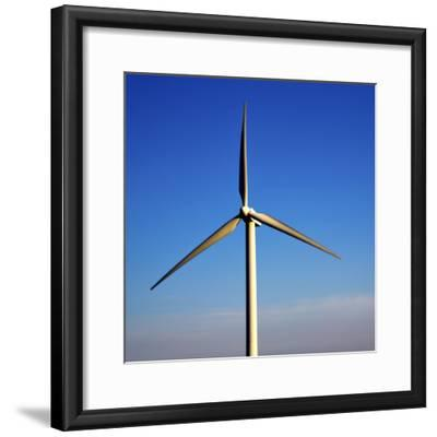 In Isle of Lanzarote  Spain Africa Wind Turbines Sky-lkpro-Framed Photographic Print