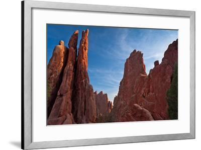 Rocky Outcrop in Garden of the Gods-CGJ Photography-Framed Photographic Print