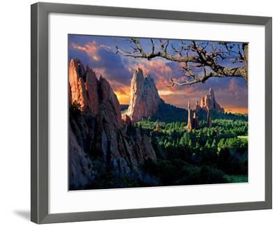 Morning Light at Garden of the Gods-pilgrims49-Framed Photographic Print