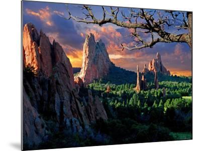Morning Light at Garden of the Gods-pilgrims49-Mounted Photographic Print