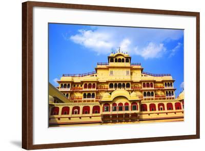 Chandra Mahal in City Palace, Jaipur,-prasenjeet1-Framed Photographic Print