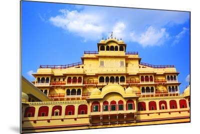 Chandra Mahal in City Palace, Jaipur,-prasenjeet1-Mounted Photographic Print