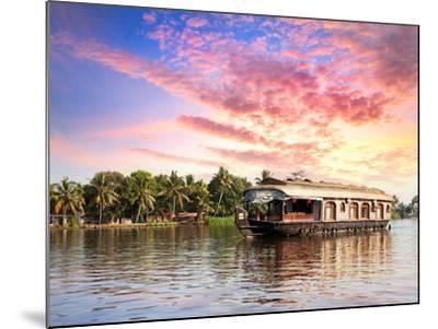 House Boat in Backwaters-Marina Pissarova-Mounted Photographic Print