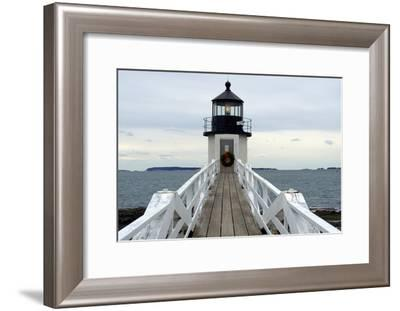 Marshall Point Lighthouse-lightningboldt-Framed Photographic Print