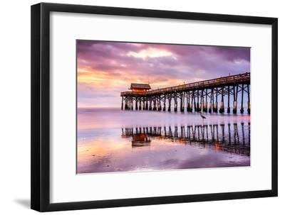 Cocoa Beach, Florida, USA at the Pier.-SeanPavonePhoto-Framed Photographic Print