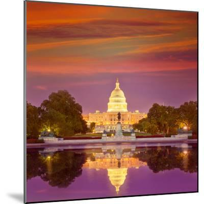 Capitol Building Sunset Congress of USA Washington DC US-holbox-Mounted Photographic Print