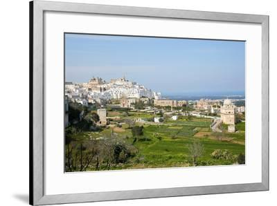View on the Center of Ostuni, Puglia, Italy-Jorisvo-Framed Photographic Print