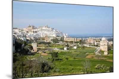 View on the Center of Ostuni, Puglia, Italy-Jorisvo-Mounted Photographic Print