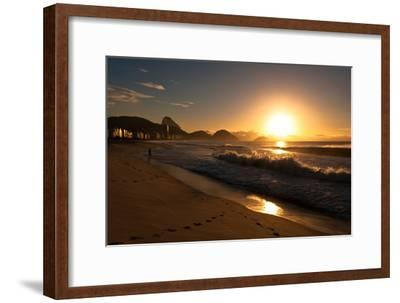 Sunrise in Copacabana Beach-dabldy-Framed Photographic Print