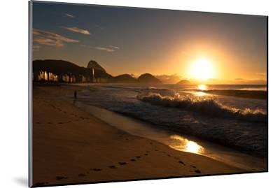 Sunrise in Copacabana Beach-dabldy-Mounted Photographic Print
