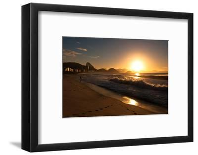 Sunrise in Copacabana Beach-dabldy-Framed Photographic Print