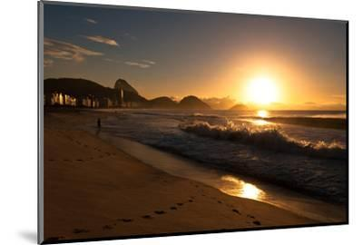 Sunrise in Copacabana Beach-dabldy-Mounted Photographic Print