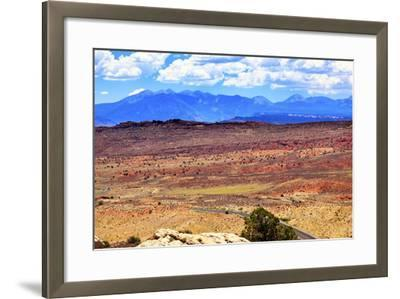 Painted Desert Yellow Grass Lands Orange Sandstone La Salle Mountains Arches National Park Moab Uta-BILLPERRY-Framed Photographic Print
