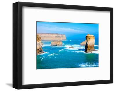 The Twelve Apostles by the Great Ocean Road in Victoria, Australia-StanciuC-Framed Photographic Print