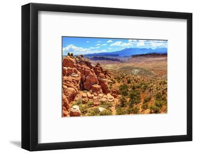 Painted Desert Yellow Grass Lands Orange Sandstone Red Fiery Furnace Arches National Park Moab Utah-BILLPERRY-Framed Photographic Print