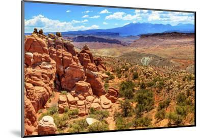 Painted Desert Yellow Grass Lands Orange Sandstone Red Fiery Furnace Arches National Park Moab Utah-BILLPERRY-Mounted Photographic Print
