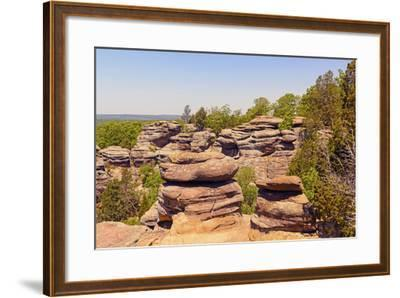 Sandstone Bluffs in the Wilderness-wildnerdpix-Framed Photographic Print