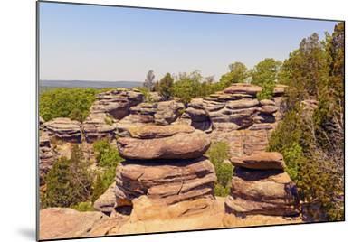 Sandstone Bluffs in the Wilderness-wildnerdpix-Mounted Photographic Print