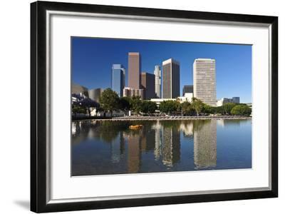 Los Angeles City Skyline-rebelml-Framed Photographic Print
