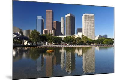 Los Angeles City Skyline-rebelml-Mounted Photographic Print