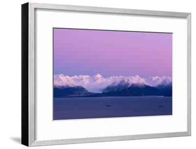 Pink Sky over Grewingk Glacier-Latitude 59 LLP-Framed Photographic Print