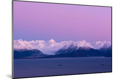 Pink Sky over Grewingk Glacier-Latitude 59 LLP-Mounted Photographic Print