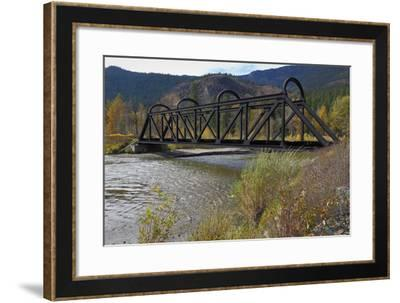 Kettle Valley Rail Bridge over the Nicola River-digimax-Framed Photographic Print