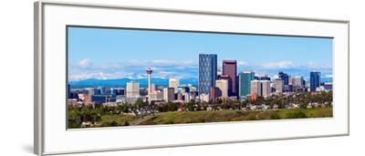 Panorama of Calgary and Rocky Mountains-benkrut-Framed Photographic Print