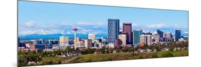 Panorama of Calgary and Rocky Mountains-benkrut-Mounted Photographic Print