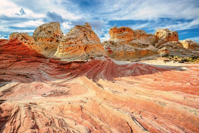 White Pocket Area of Vermilion Cliffs National Monument-lucky-photographer-Framed Photographic Print