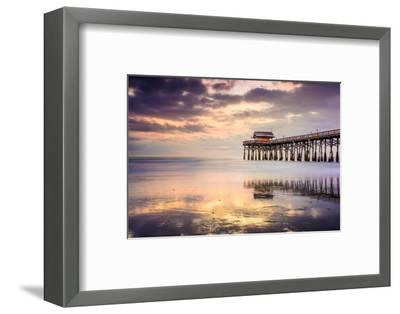 Cocoa Beach, Florida, USA at the Pier.-SeanPavonePhoto-Framed Photographic Print