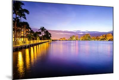 West Palm Beach Florida, USA Cityscape on the Intracoastal Waterway.-SeanPavonePhoto-Mounted Photographic Print