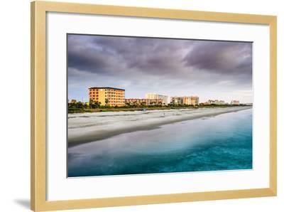 Cocoa Beach, Florida Beachfront Hotels and Resorts.-SeanPavonePhoto-Framed Photographic Print