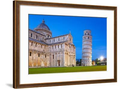 Pisa, Italy. Catherdral and the Leaning Tower of Pisa at Piazza Dei Miracoli.-Patryk Kosmider-Framed Photographic Print