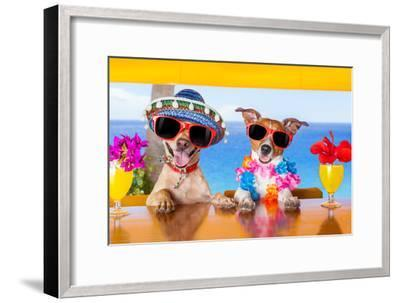 Cocktail Dogs-Javier Brosch-Framed Photographic Print
