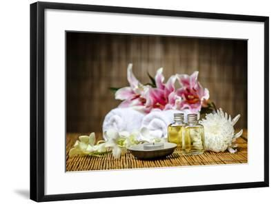 Candle and Massage Oil-psphotography-Framed Photographic Print