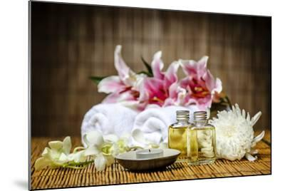 Candle and Massage Oil-psphotography-Mounted Photographic Print