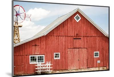 Red Barn-urbanlight-Mounted Photographic Print