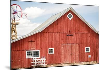 Red Barn-urbanlight-Mounted Photographic Print
