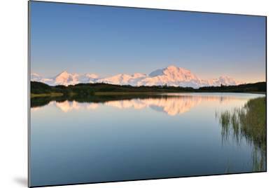 Denali Mountain and Reflection Pond-lijuan-Mounted Photographic Print