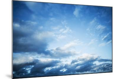 Dark Blue Sky with Clouds, Abstract Photo Background-Eugene Sergeev-Mounted Photographic Print