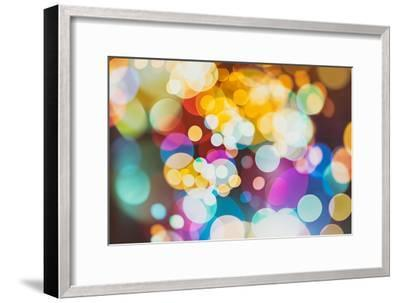 Abstract Texture, Light Bokeh Background-Maximusnd-Framed Photographic Print