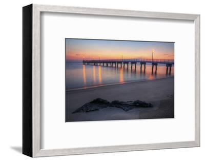 Woodland Beach Fishing Pier Dawn-michaelmill-Framed Photographic Print