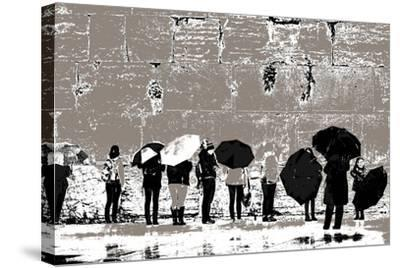 The Women's Side, from the Series Tuesday at the Wailing Wall (2016)-Joy Lions-Stretched Canvas Print