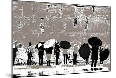 The Women's Side, from the Series Tuesday at the Wailing Wall (2016)-Joy Lions-Mounted Giclee Print
