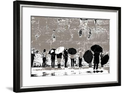 The Women's Side, from the Series Tuesday at the Wailing Wall (2016)-Joy Lions-Framed Giclee Print