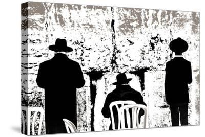 Dovening, from the Series Tuesday at the Wailing Wall (2016)-Joy Lions-Stretched Canvas Print