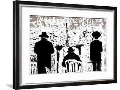 Dovening, from the Series Tuesday at the Wailing Wall (2016)-Joy Lions-Framed Giclee Print